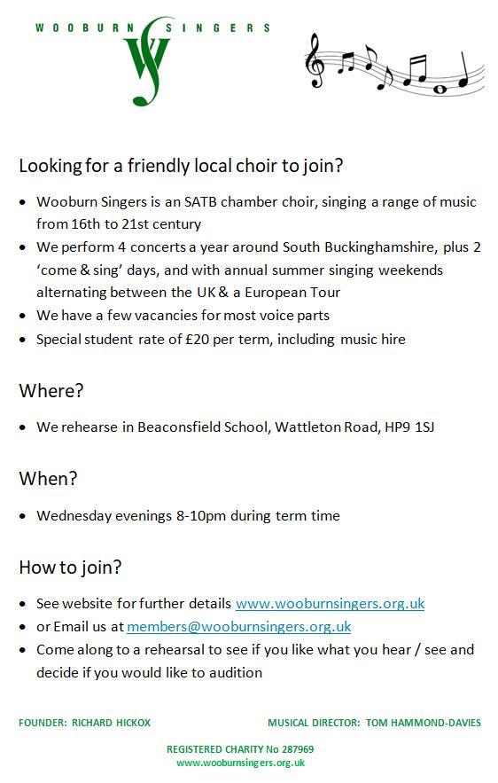 WS Join us - choir advert 2018.07.27